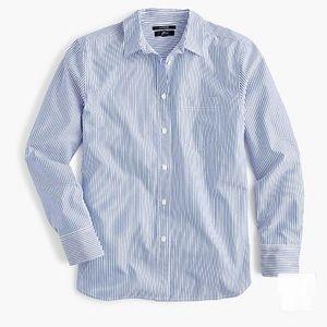 J.crew Striped boyfriend shirt, Size XL